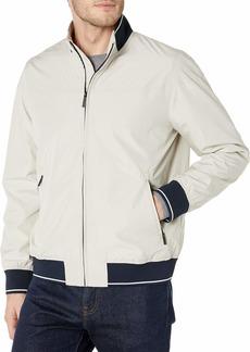 Perry Ellis Men's Lightweight Long Sleeve Harrington Jacket