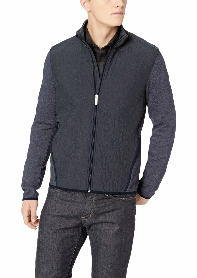 Perry Ellis Men's Lightweight Quilted Jacket Dark Sapphire/DFK Extra Extra Large