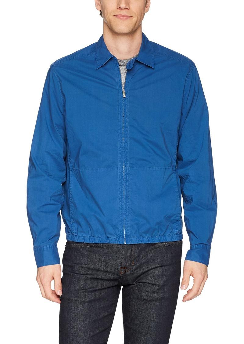 Perry Ellis Men's Lightweight Solid Poplin Jacket Bright Turkish sea Extra Large