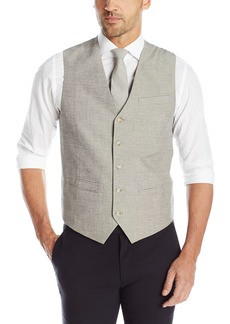 Perry Ellis Men's Linen Cotton End On End Suit Vest  XX-Large