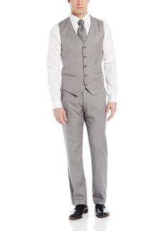 Perry Ellis Men's Linen Five Button Texture Vest