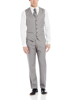 Perry Ellis Men's Linen Five Button Texture Vest