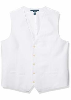Perry Ellis Men's Linen Suit Vest Bright White