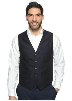Perry Ellis Men's Linen Suit Vest Navy-4BHV4454 Extra Large