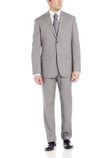 Perry Ellis Men's Linen Two Button Notch Lapel Texture Jacket  Large/