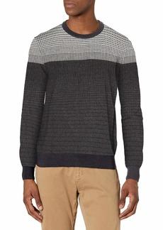 Perry Ellis Men's Long Sleeve Cotton MDL STP CRW Sweater