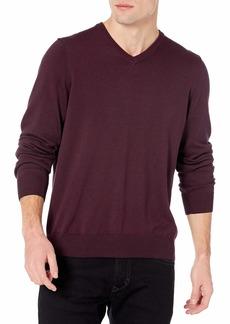 Perry Ellis Men's Long Sleeve Cotton/MDL Eoe V Neck Sweater  X Large