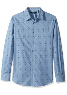 Perry Ellis Men's Long Sleeve Dot Printed Shirt  Extra Large