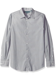 Perry Ellis Men's Long Sleeve Modern Geo Print Shirt Bungee Cord-4CFW4017 Extra Large