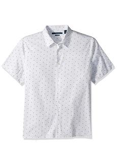 Perry Ellis Men's Long Sleeve Modern Geo Print Shirt Kentucky Blue-4CHW4036 Extra Large