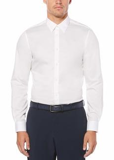 Perry Ellis Men's Long Sleeve Twill NonIron Medium Spread Collar Shirt  Extra Small