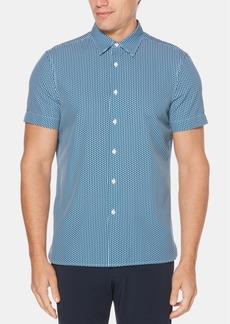 Perry Ellis Men's Mini Block Print Slim-Fit Shirt