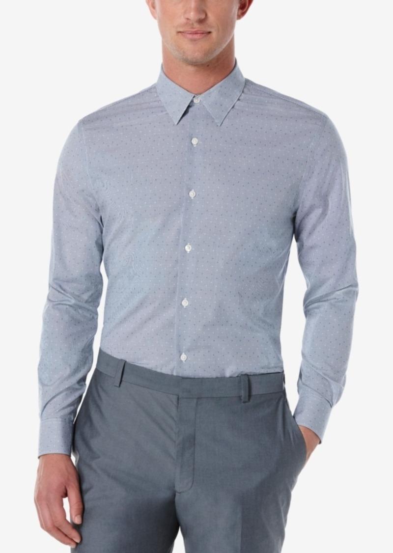 Perry Ellis Men's Mini-Check and Dot Long-Sleeve Shirt