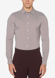 Perry Ellis Men's Mini-Check Performance Shirt