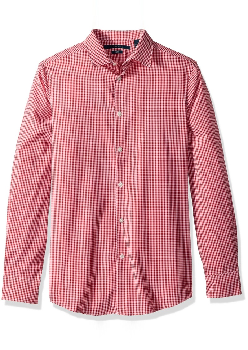 Perry Ellis Men's Mini Check Total Stretch Dress Shirt Haute red Extra Extra Large