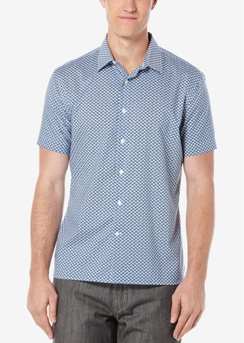 Perry Ellis Men's Mini-Disc Short-Sleeve Shirt