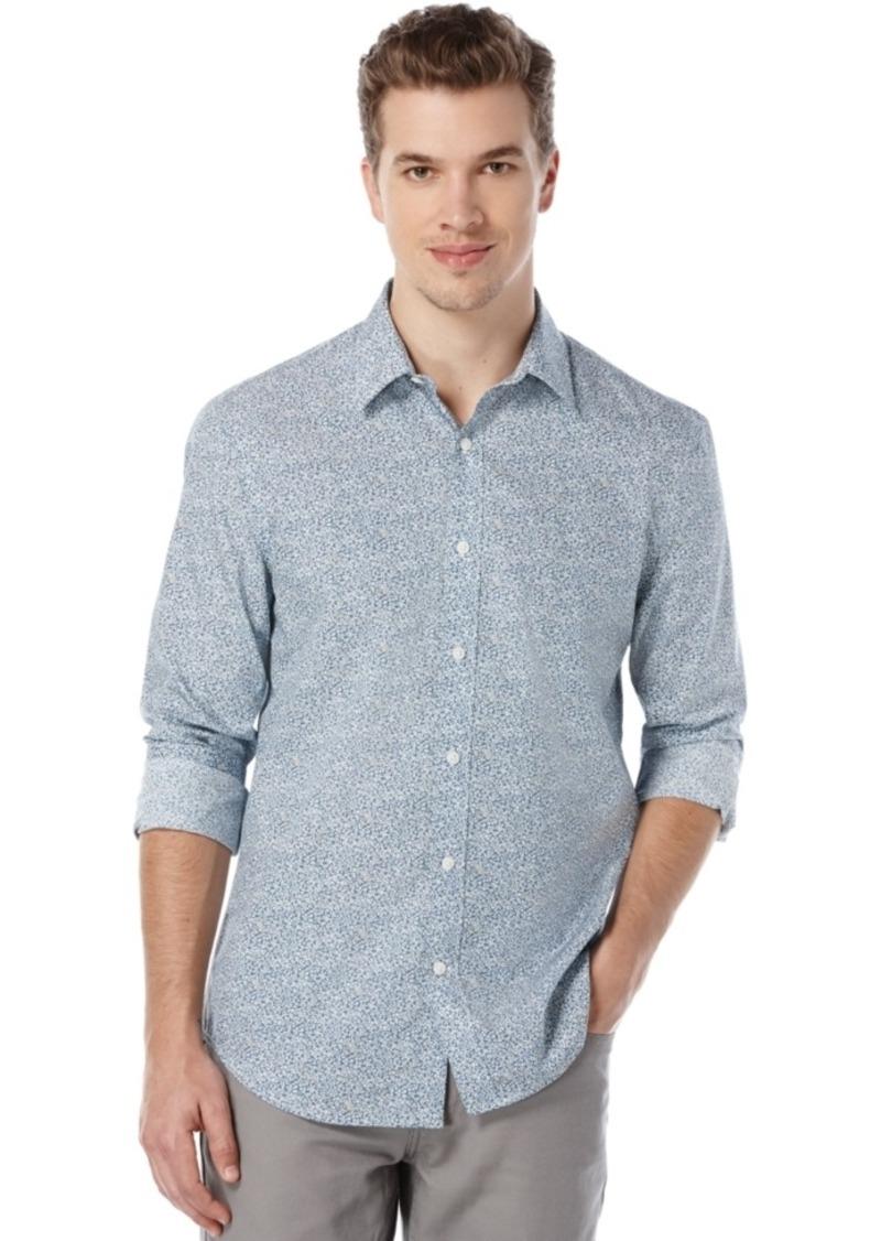 Perry Ellis Men's Mini-Floral-Print Long-Sleeve Shirt