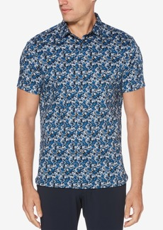Perry Ellis Men's Mini-Floral Shirt