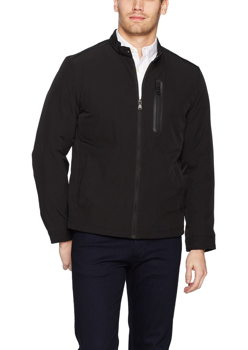 Perry Ellis Men's Moto Collar Poly Stretch Jacket with Fill  L