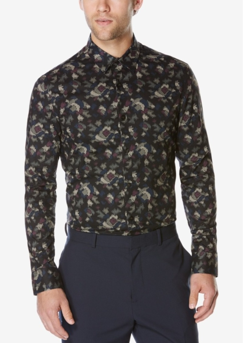 Perry Ellis Men's Multi-Color Abstract-Print Shirt