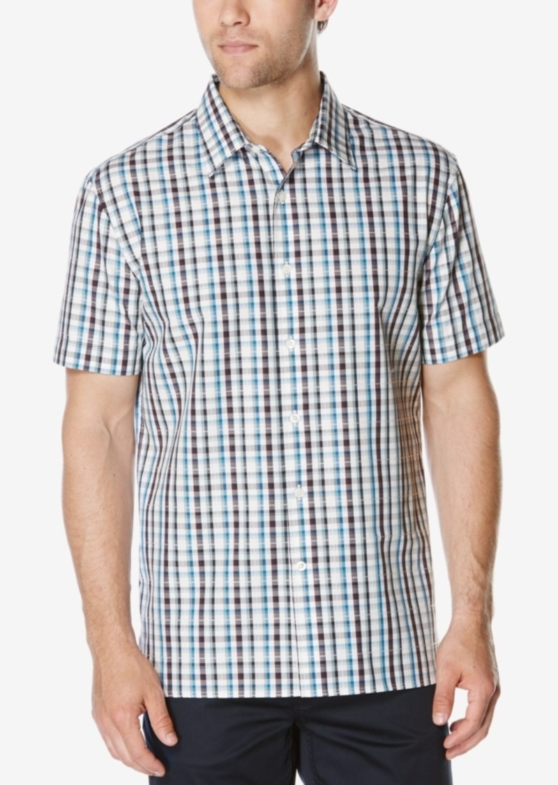 Perry Ellis Men's Multi-Color Check Shirt