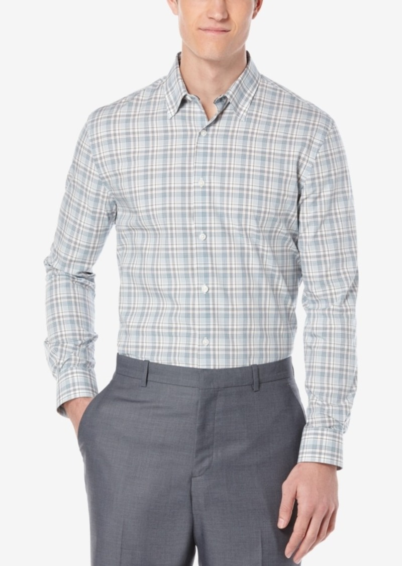 Perry Ellis Men's Multi-Plaid Long-Sleeve Shirt