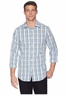 Perry Ellis Men's Multicolor Check Resist Spill Shirt Legion Blue/DHW