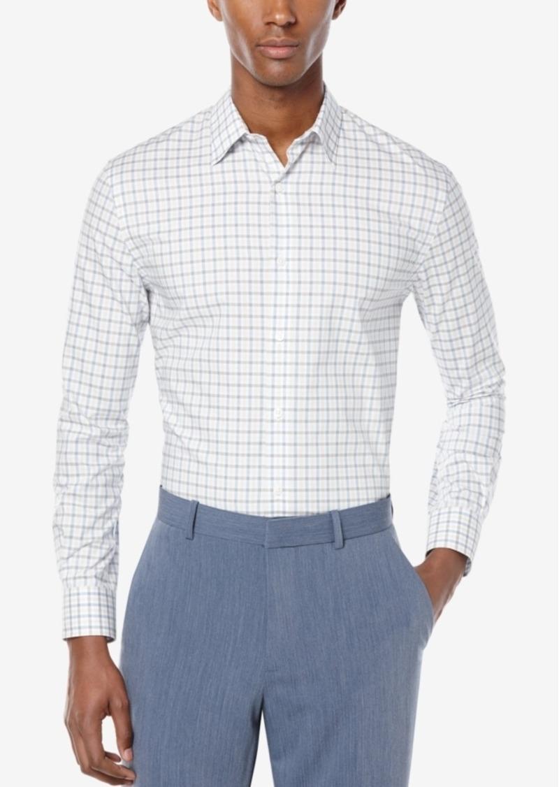Perry Ellis Men's Non-Iron Check Long-Sleeve Shirt