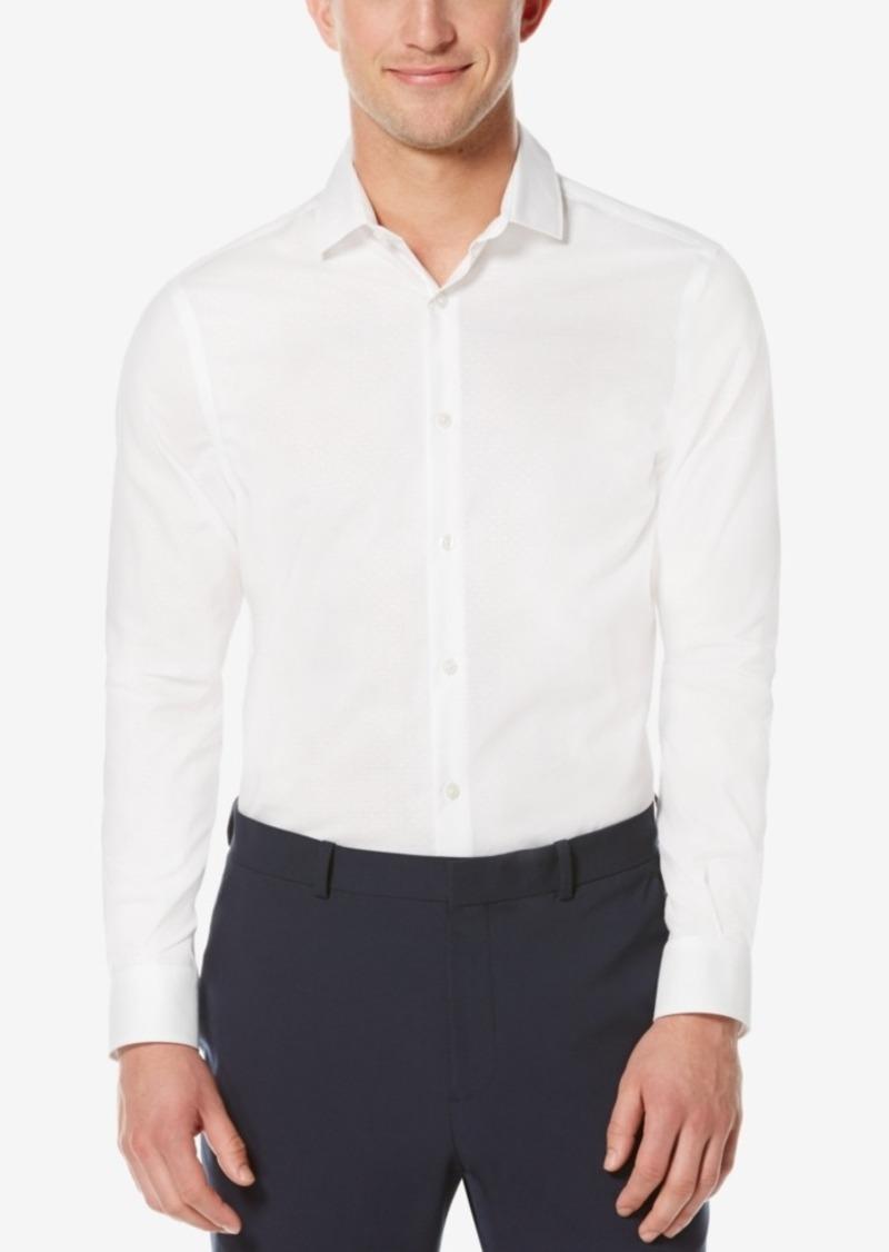Perry Ellis Men's Non-Iron Dot Long-Sleeve Shirt