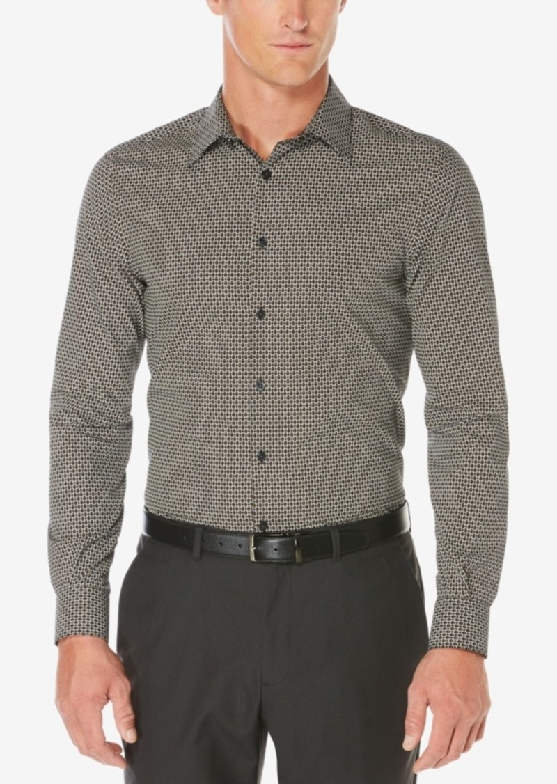 Perry Ellis Men's Non-Iron Layered Circle-Print Shirt