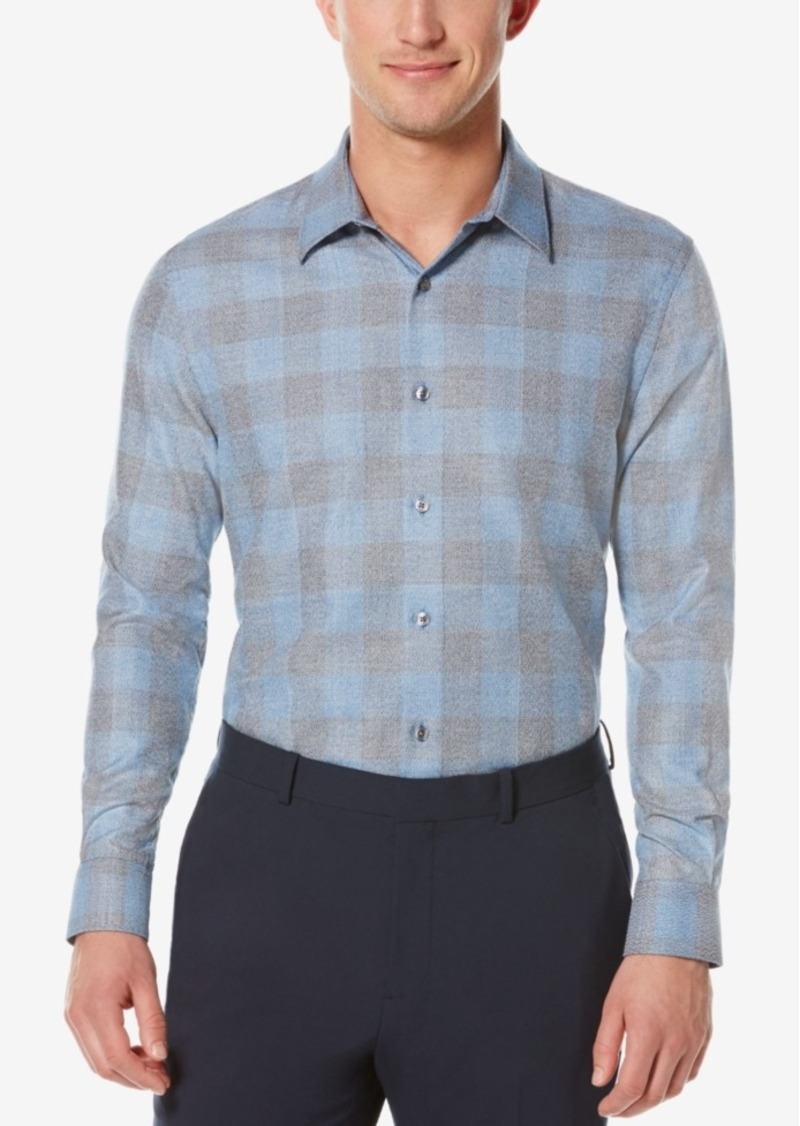 Perry Ellis Men's Obscured Buffalo-Plaid Long-Sleeve Shirt