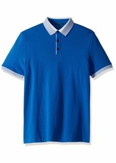 Perry Ellis Men's Ombre Collar Short Sleeve Polo Shirt  XX Large