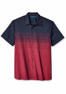 Perry Ellis Men's Ombre Stripe Shirt Dark Sapphire-4ESW7060