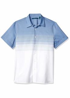 Perry Ellis Men's Ombre Stripe Shirt Delft-4ESW7060 Extra Large