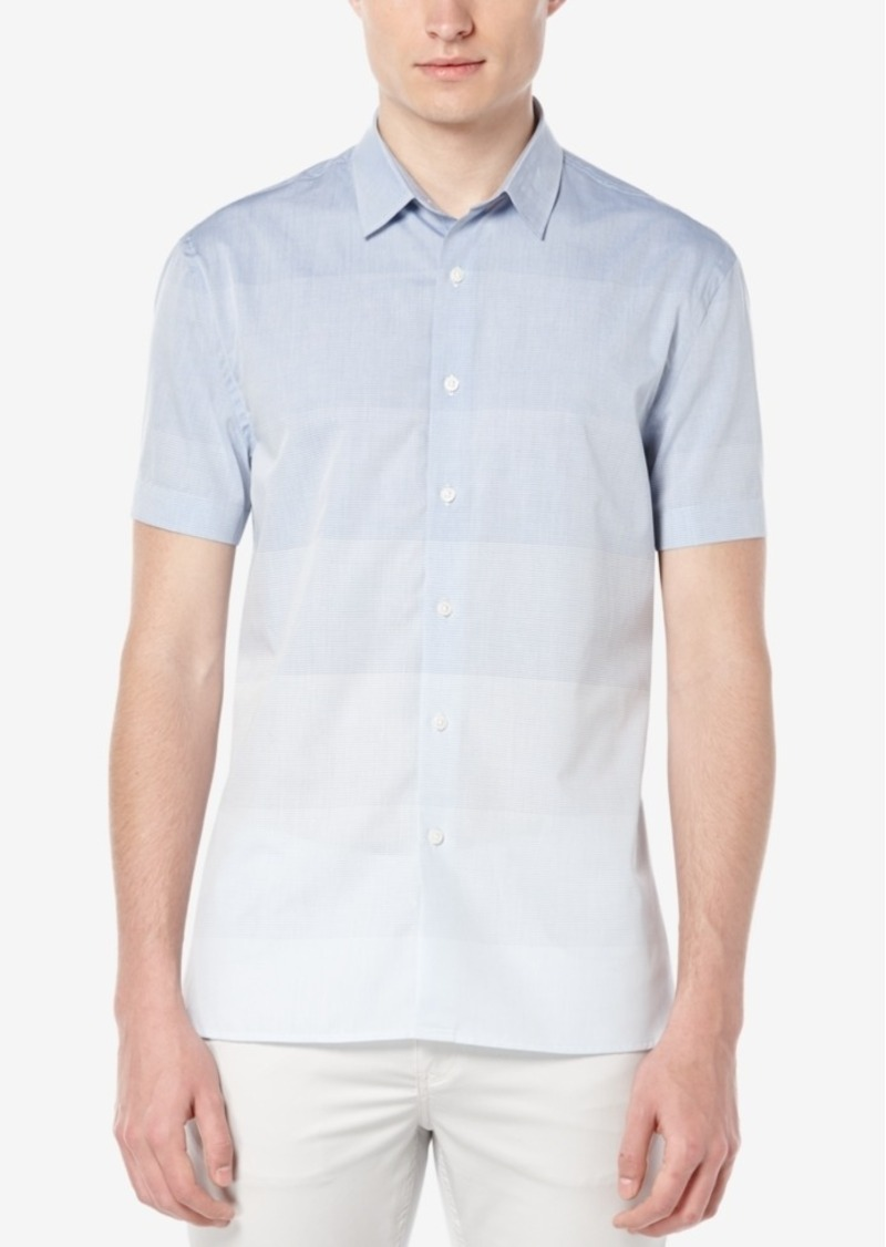 Perry Ellis Men's Ombre-Striped Short-Sleeve Shirt