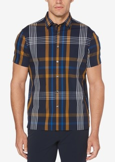 Perry Ellis Men's Oversized Plaid-Print Classic Fit Shirt