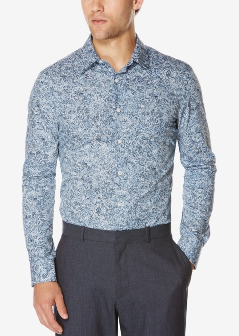 Perry Ellis Men's Paisley-Print Long-Sleeve Shirt
