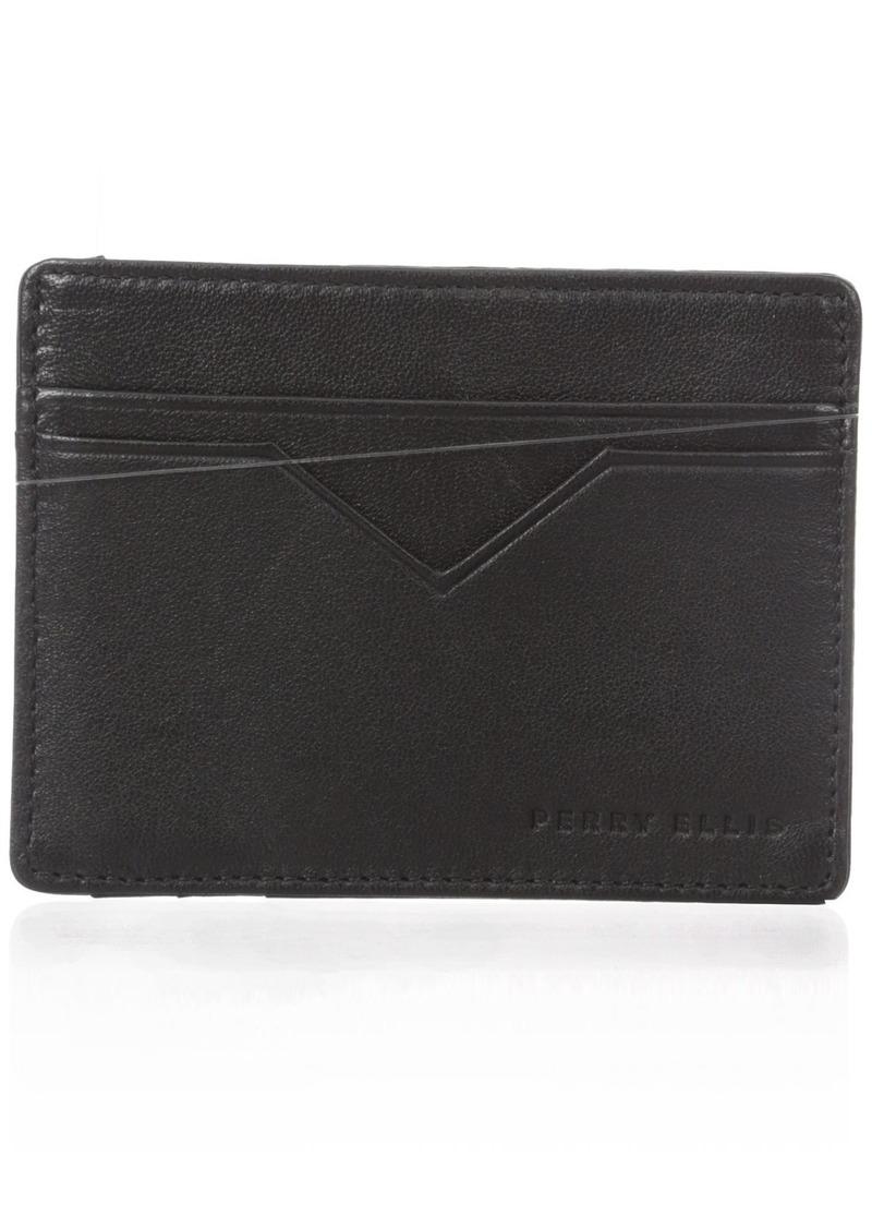 641447f28420 Men's Portfolio Card Holder With A Sliver Tone Logo