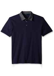 Perry Ellis Men's Pima Chambray Polo Shirt