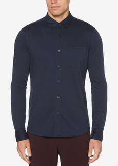 Perry Ellis Men's Pique-Knit Pocket Shirt