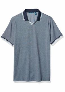 Perry Ellis Men's Pique Open Collar Polo Shirt