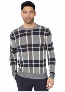 Perry Ellis Men's Plaid Texture Crew Sweater  X Large