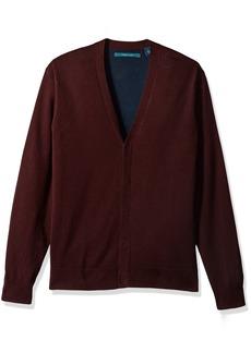 Perry Ellis Men's Plaited Cardigan Sweater