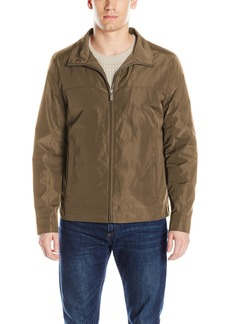 Perry Ellis Men's Poly Zip Front Packable Jacket  M