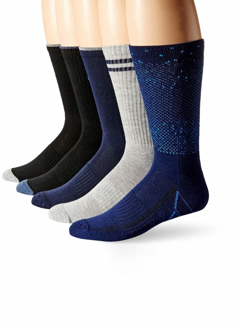 Perry Ellis Men's Portfolio 5 PK Casletic Digital Ombre Crew Socks