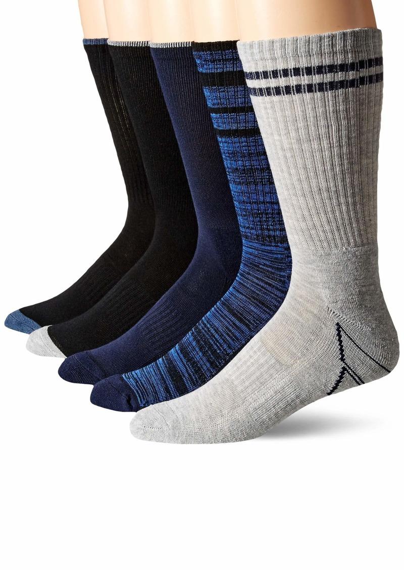 Perry Ellis Men's Portfolio 5 PK Casletic Retro Crew Socks