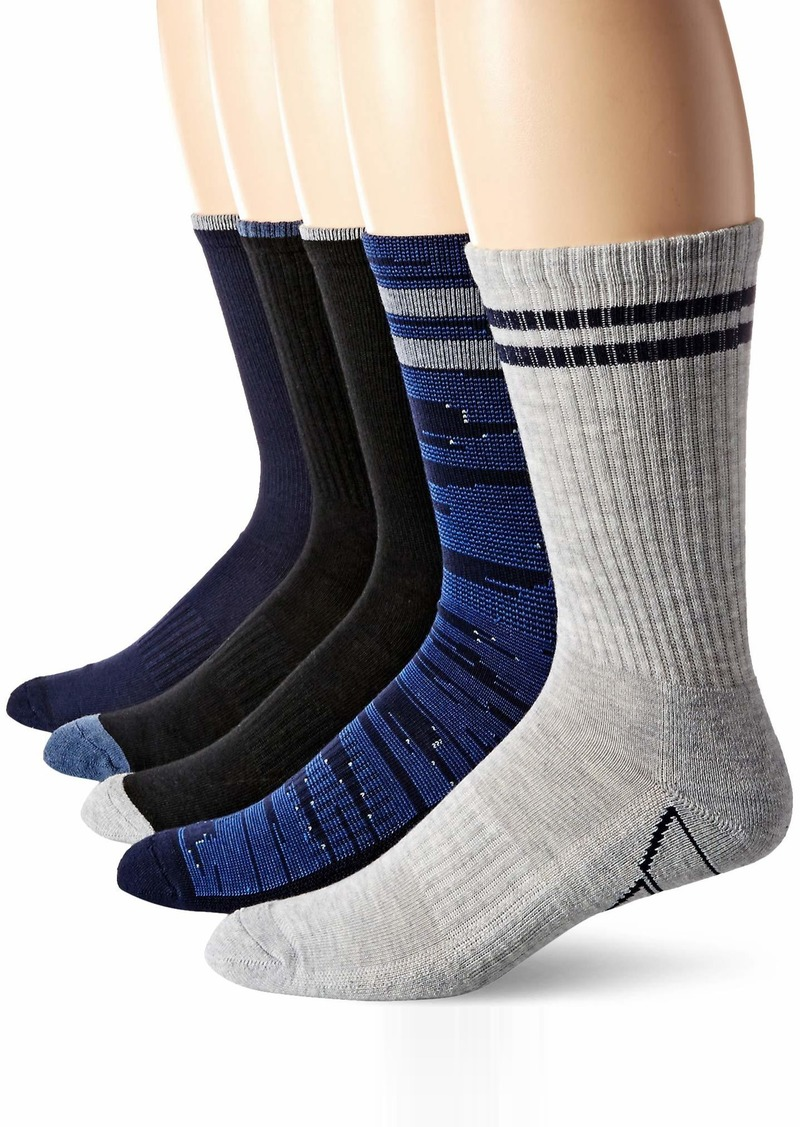 Perry Ellis Men's Portfolio 5PK Casletic Digital Camo Crew Socks