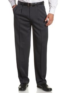 Perry Ellis Men's Portfolio Double Pleated Micro Melange Pant  34x30