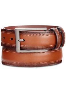 Perry Ellis Portfolio Men's Wing Tip Leather Belt