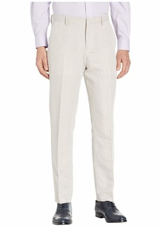 Perry Ellis Men's Portfolio Modern Fit Linen Blend Pants Natural 38x32